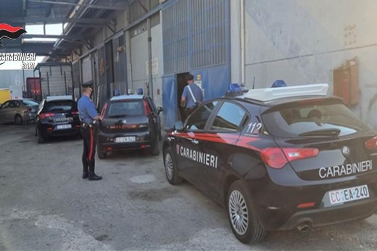 La carrozzeria scoperta dai Carabinieri