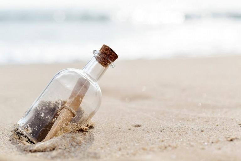 Messaggio d'amore in una bottiglia