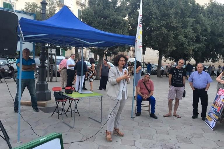 Francesca Ruggiero in piazza Moro a Bitonto