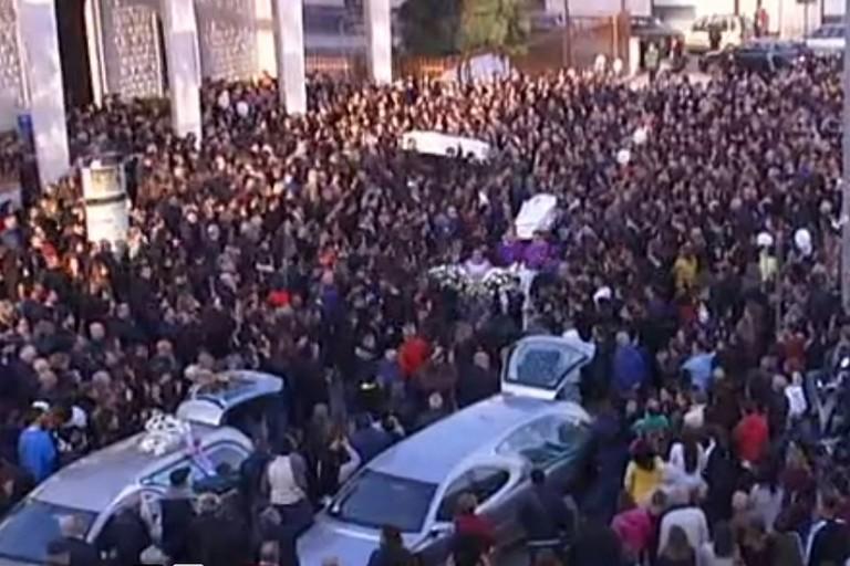 I funerali di Antonella e Pierluigi. <span>Foto Norba</span>