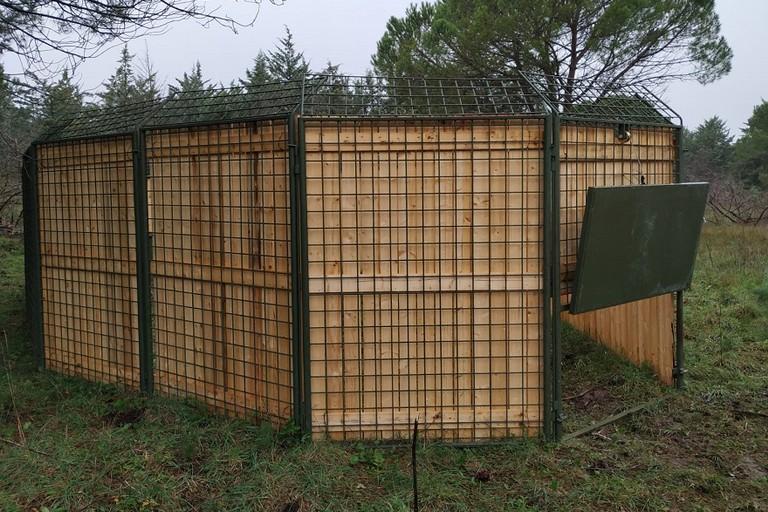 I corral installati nel Parco dellAlta Murgia