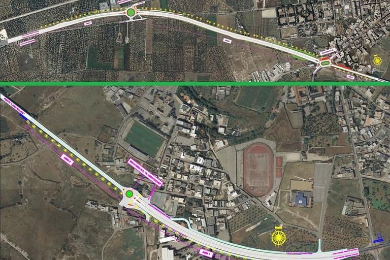 Un tratto a 4 corsie e tre rotatorie a Bitonto sulla Sp231