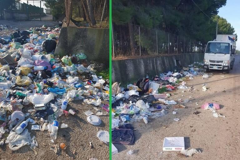 I rifiuti abbandonati nei pressi del Campo Sportivo di Mariotto