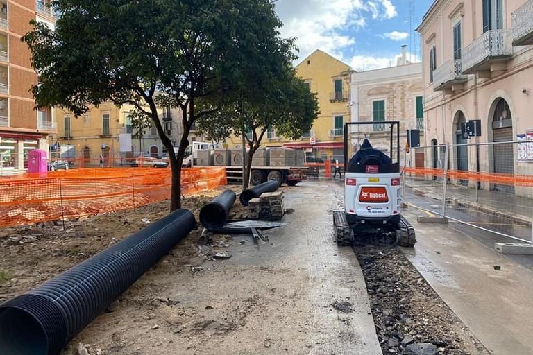 Il cantiere di piazza Caduti
