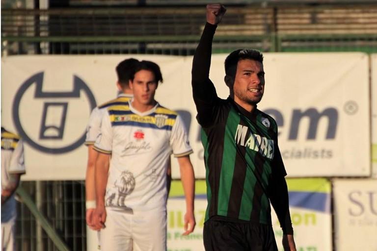 Il centrocampista argentino del Bitonto Carlos Turu Biason. <span>Foto Anna Verriello</span>