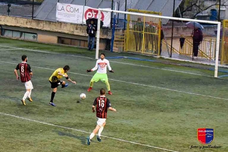 Il gol di Patierno (Foto G. Palladino)
