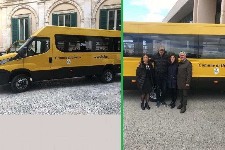 Il nuovo scuolabus del comune di Bitonto