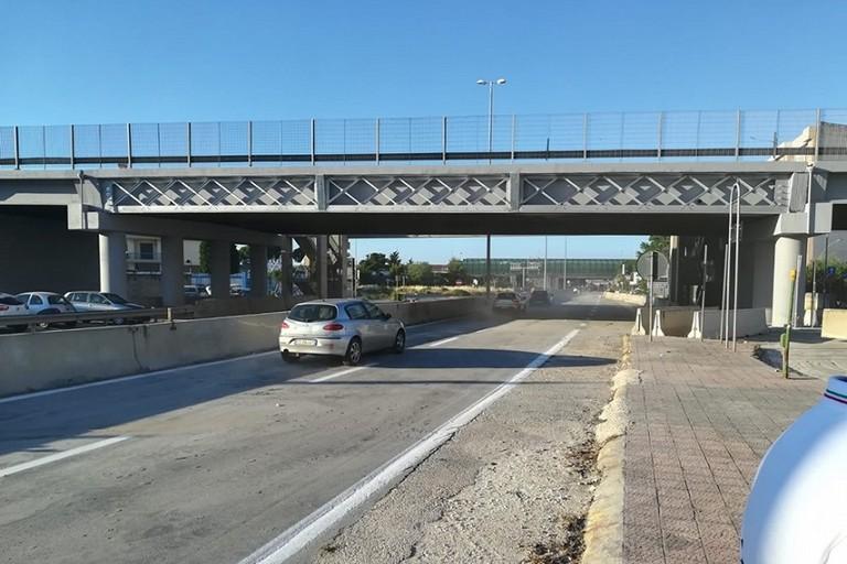 Il ponte di via Modugno riaperto