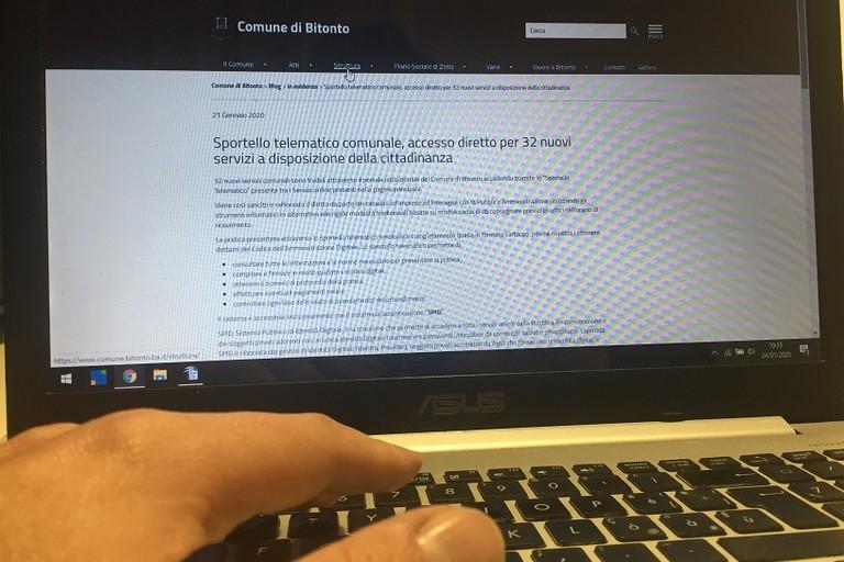 Dallo sportello telematico comunale di Bitonto accesso diretto a 32 nuovi servizi