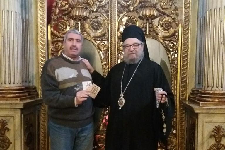 il professor Cannito col metropolita Lucian