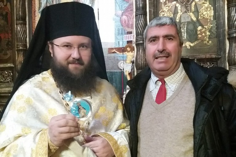 Il professor Cannito con il vicario vescovile di Transilvania