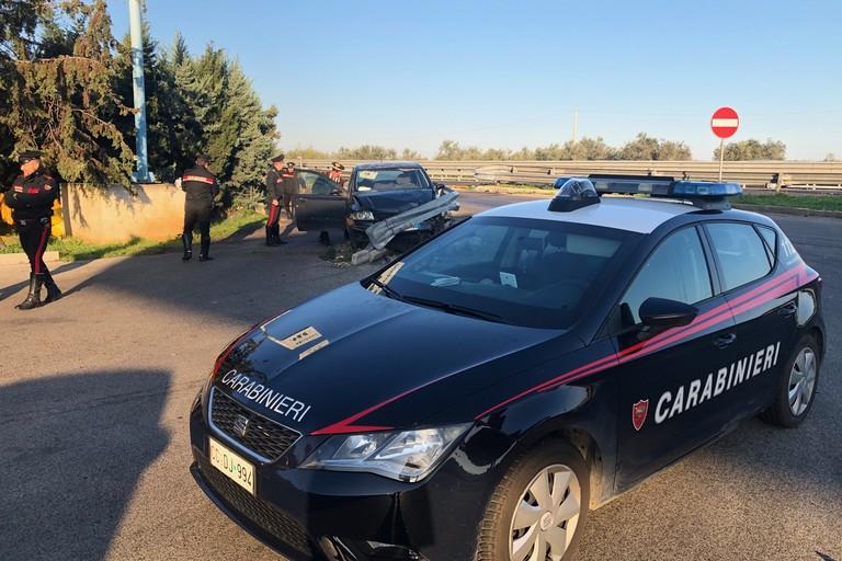 La Fiat Stilo recuperata dai Carabinieri
