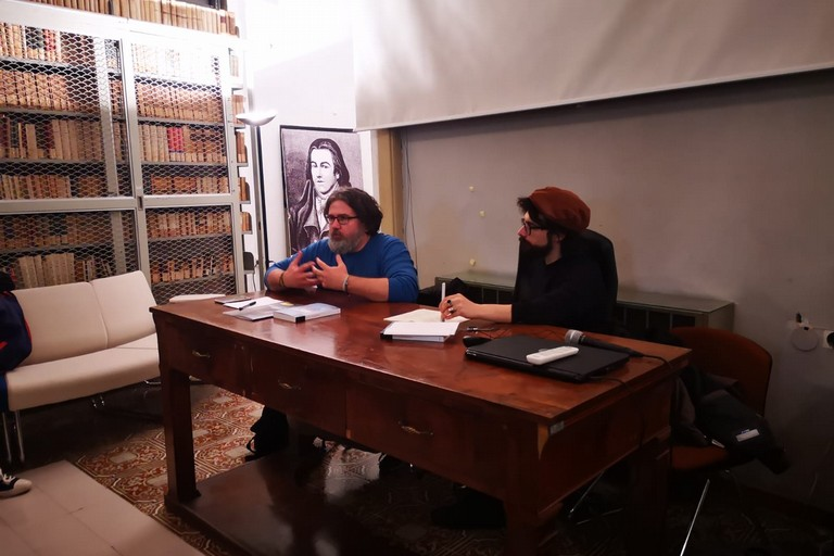 Marco Omizzolo con Savino Carbone