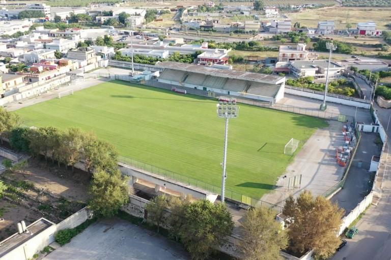 Veduta dall'alto dello stadio di Bitonto