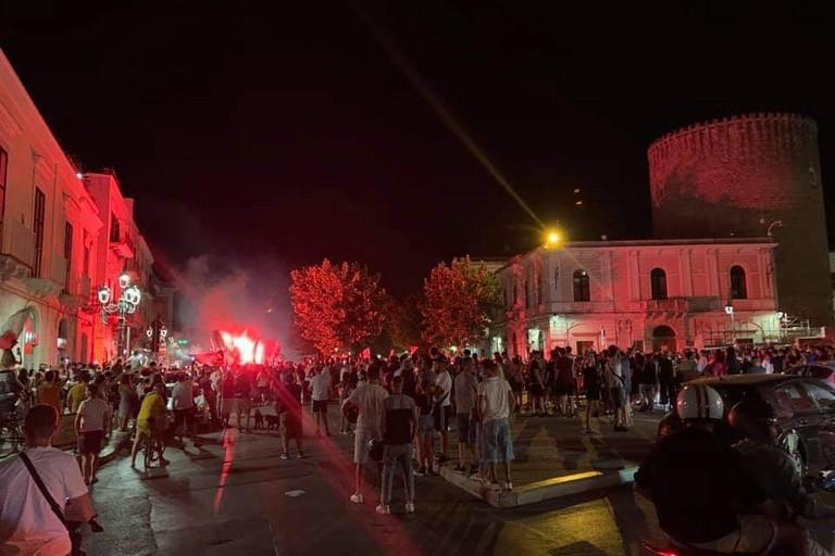 Festa a Bitonto dopo Belgio-Italia 1-2