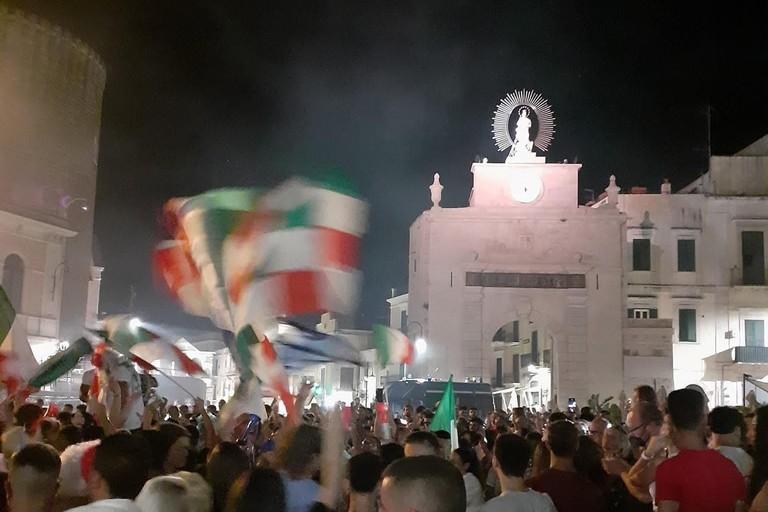 Bitonto in festa dopo Italia-Spagna
