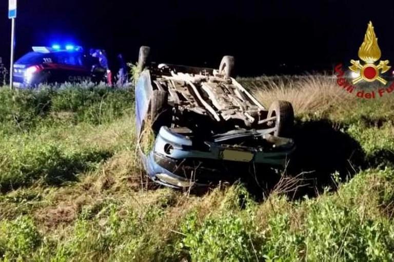 L'incidente stradale avvenuto sulla strada provinciale 88