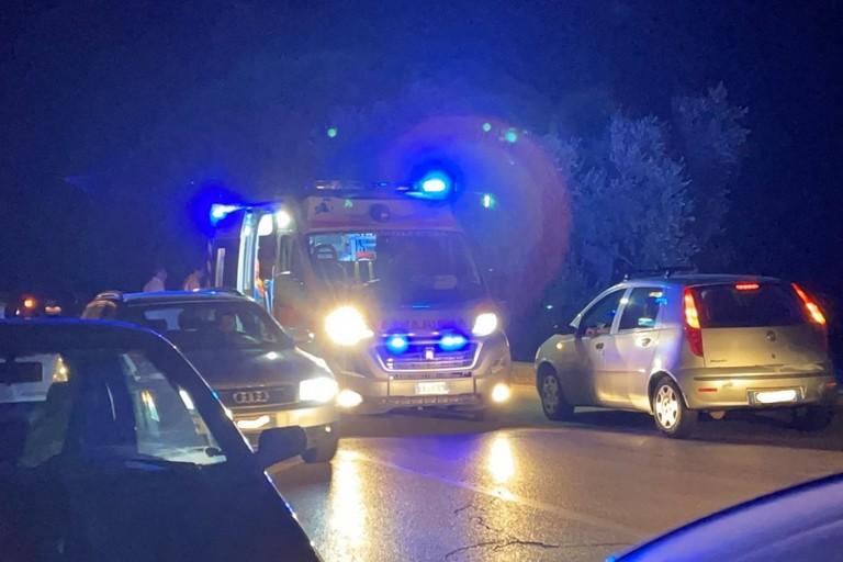 L'arrivo dell'ambulanza