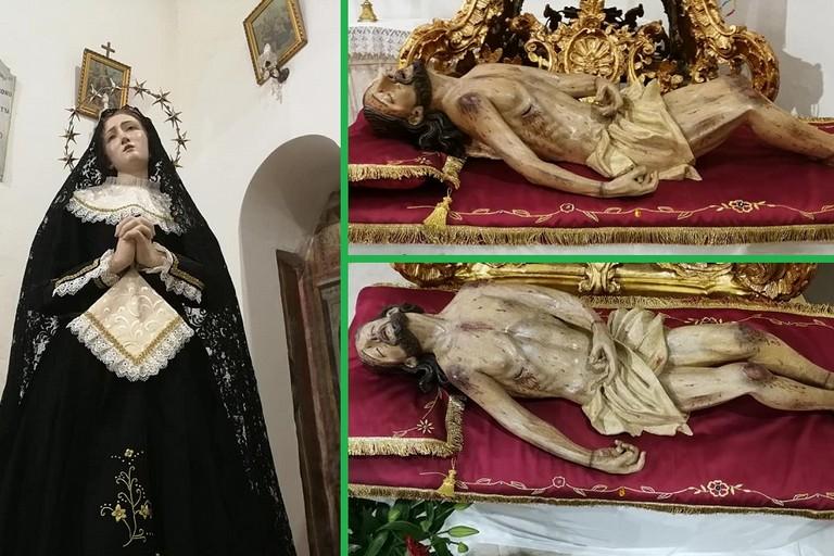 Laddolorata e il Cristo Morto appena restaurati