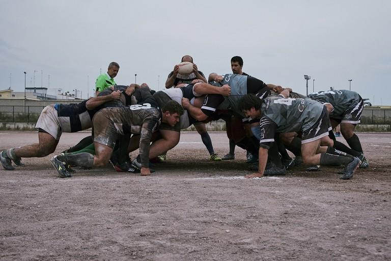 L'Amatori Rugby Bitonto in azione contro Corato