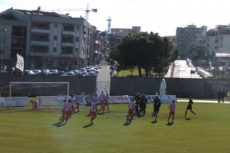 Lesultanza del Bitonto al gol del momentaneo pareggio di Montrone
