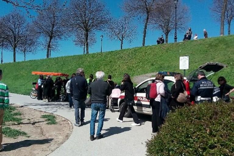 Lincidente avvenuto a Lucca. <span>Foto La Gazzetta di Lucca</span>