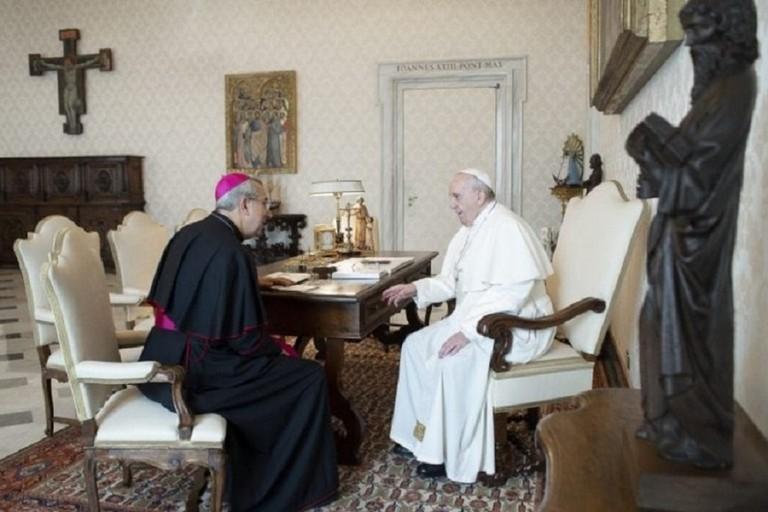 L'Arcivescovo Satriano incontra Papa Francesco