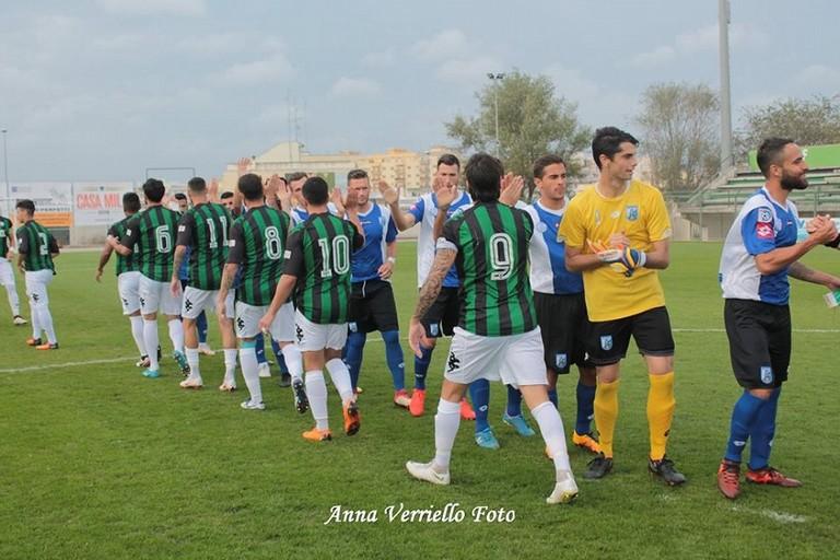 LUsd Bitonto in campo contro il Fasano. <span>Foto Anna Verriello</span>