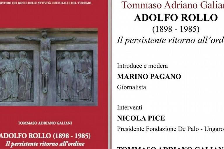 La copertina del libro su Adolfo Rollo