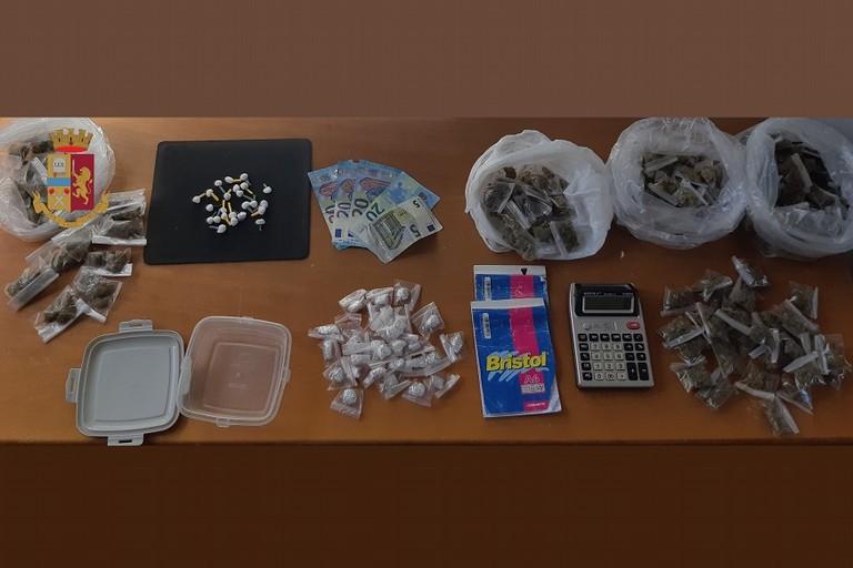 La droga sequestra in via San Luca