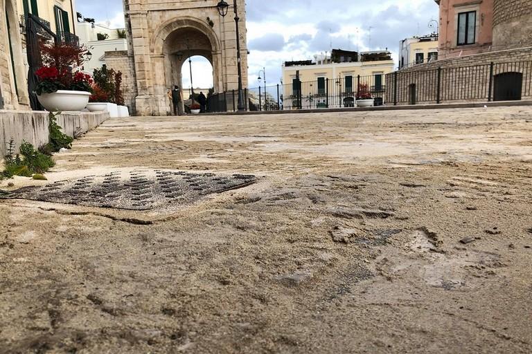 La sabbia in piazza Cavour