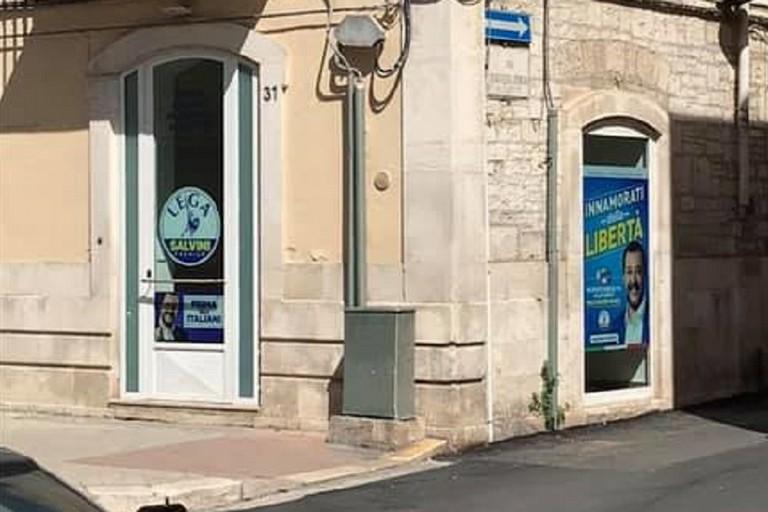 La sede della Lega Salvini