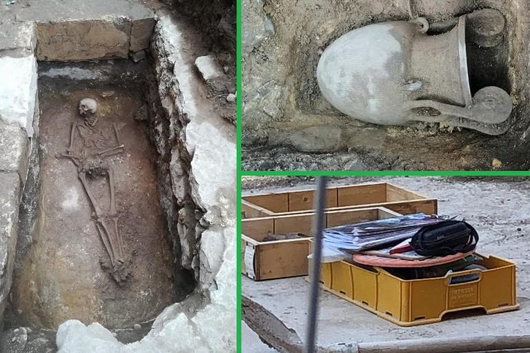 La sepoltura di Piazza Caduti del Terrorismo a Bitonto