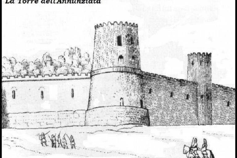 La torre dellAnnunziata nella ricostruzione di Pasquale Fallacara