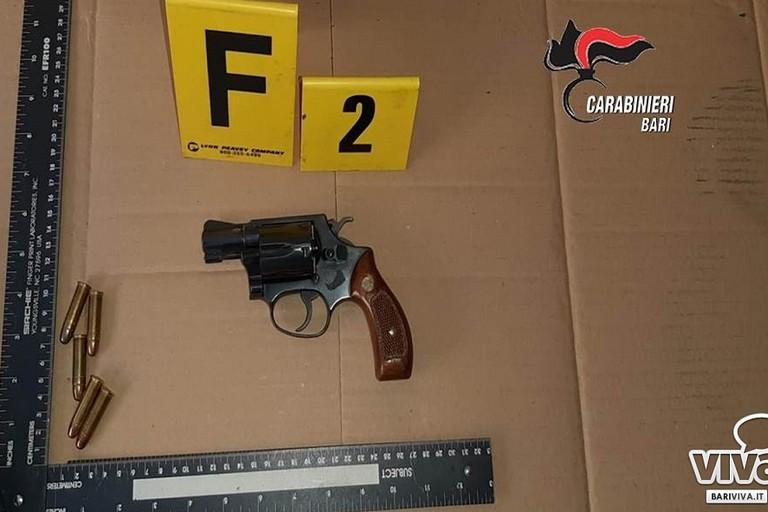 LE armi sequestrate allultimo componente della banda della BMW