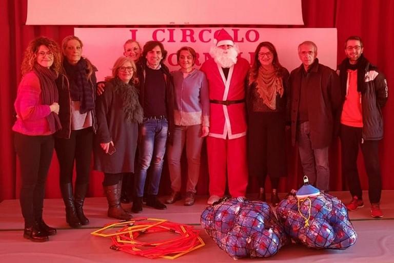 Le attrezzature donate da Babbo Natale
