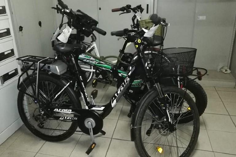 Le bici elettriche sequestrate