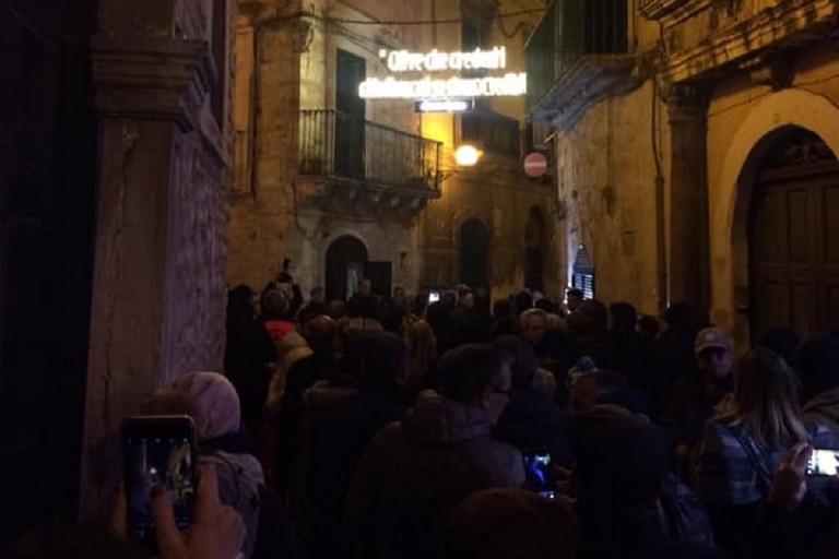 Le luminarie nel centro storico di Bitonto. <span>Foto Anna Verriello</span>