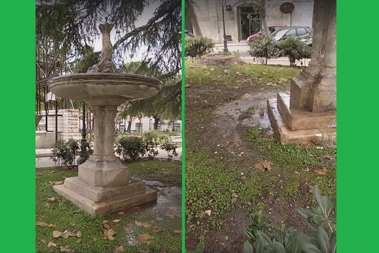 Le perdite alla fontana di piazza Marconi