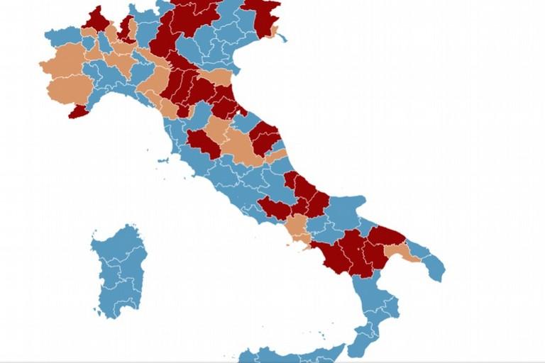 Mappa chiusura scuole