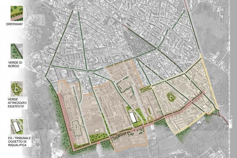 Mappa dei quartieri interessati dalla Rigenerazione Urbana