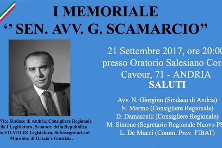 Andria e Bitonto ricordano il senatore Scamarcio con un memorial e una targa
