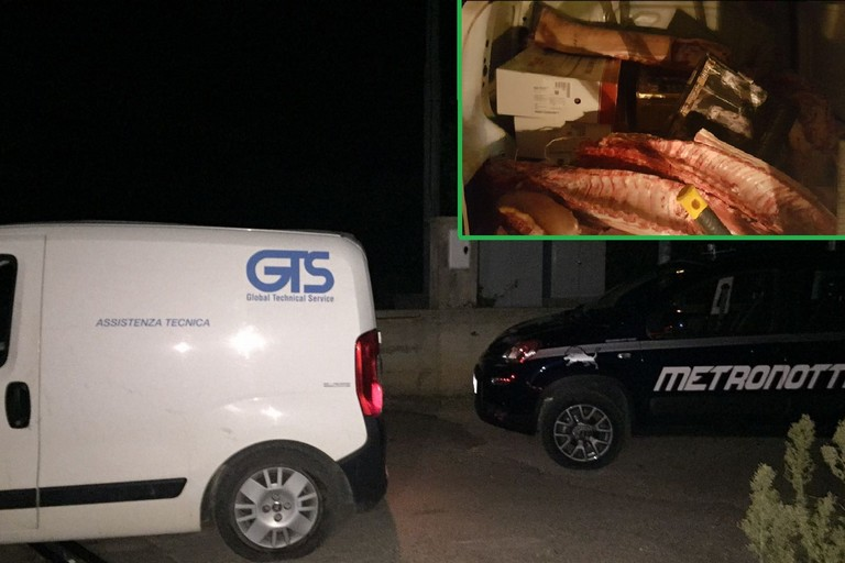 Furto di carne a Corato: refurtiva recuperata a Bitonto dopo un rocambolesco inseguimento