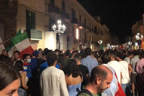 Italia campione d'Europa, la grande festa a Bitonto