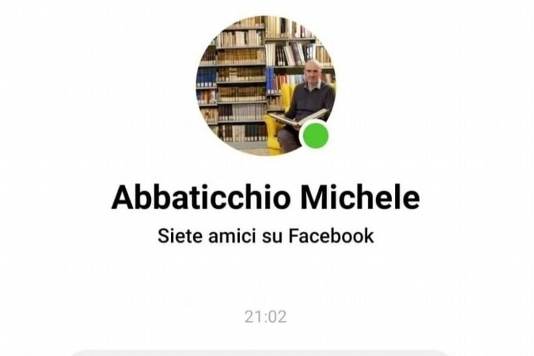 Il finto profilo di Michele Abbaticchio