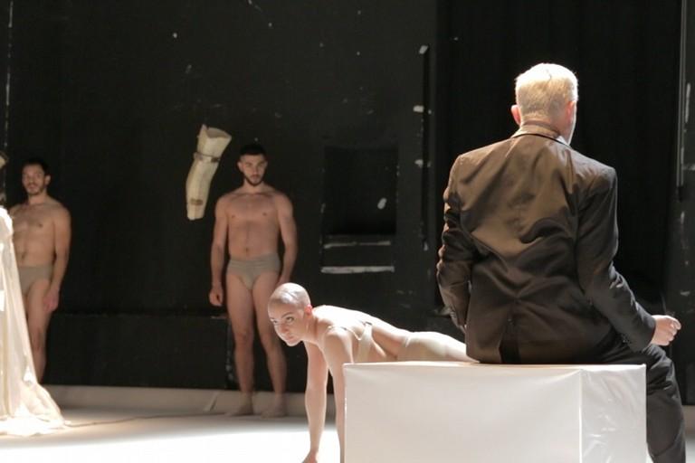 Michele Pogliani sul palco del Traetta