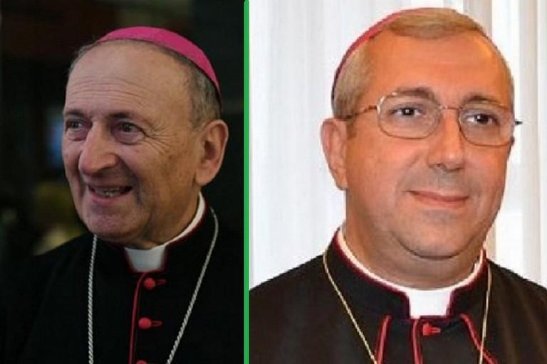 Monsignor Cacucci e monsignor Satriano
