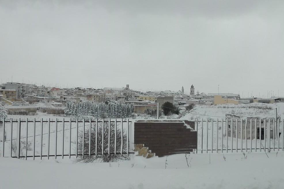 Bitonto coperta dalla neve