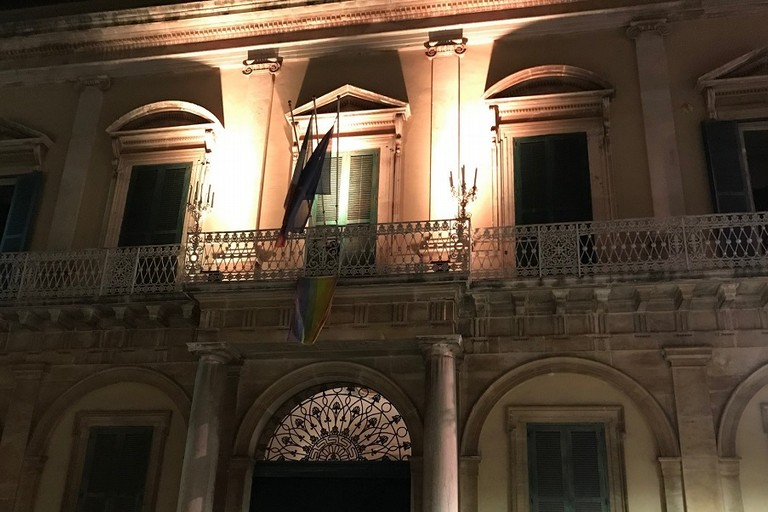 Palazzo Gentile illuminato