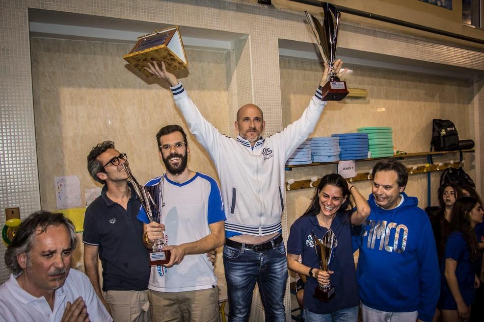 Il podio dei campionati regionali Esordienti Indoor. <span>Foto M. Barbalucca</span>